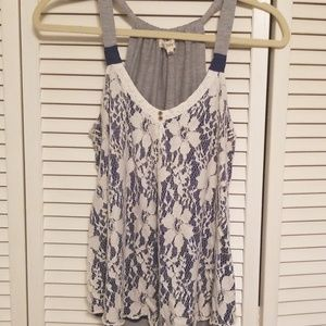 Lace front swing tank. Size lg